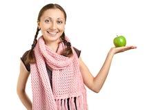äpple - grön kvinna Royaltyfri Bild