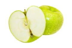 äpple - grönt saftigt Fotografering för Bildbyråer