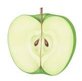 äpple - grönt stycke Fotografering för Bildbyråer