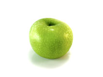 äpple - green isolerade royaltyfri bild