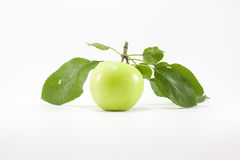 äpple - greenleaves Arkivfoton