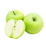 äpple - isolerad green Fotografering för Bildbyråer