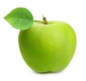 äpple - isolerad green arkivbild