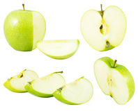 äpple - isolerad green Arkivbilder