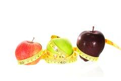 äpple isolerad mätande bandwhite Royaltyfri Fotografi