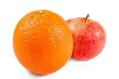 äpple isolerad orange Royaltyfri Foto