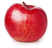 äpple isolerad röd white Arkivbild