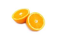 äpple isolerade apelsiner Royaltyfri Fotografi