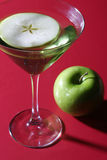 äpple martini Royaltyfri Foto