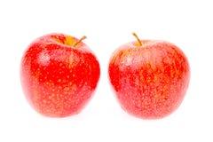 äpple på vitbakgrund Royaltyfria Bilder