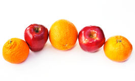 äppleapelsiner Arkivfoto