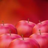 äpplebakgrund Stock Illustrationer