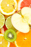 äpplebakgrundscitrusfrukt Arkivbild