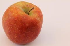 äpplebakgrundsclose upp white Royaltyfri Fotografi