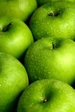äpplebakgrundsgreen Royaltyfria Bilder