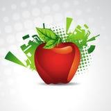 äpplebakgrundsvektor Arkivbilder