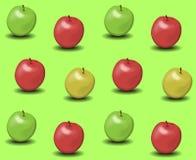 Äpplebakgrundsvektor Arkivfoton