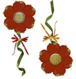 äppleblomningillustrationer Royaltyfri Fotografi