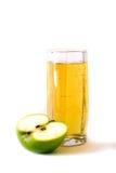äppleexponeringsglasfruktsaft Royaltyfri Bild