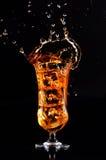 äppleexponeringsglasfruktsaft Royaltyfri Foto
