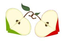 äppleförälskelse vektor illustrationer