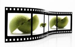 äpplefilmremsa Fotografering för Bildbyråer