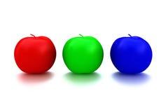 äpplefrukt rgb Arkivfoto