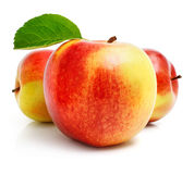 äpplefruktgreen låter vara red arkivbilder