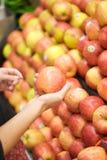 äpplehöger sida Arkivfoto
