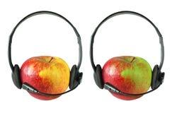 äpplehörlur Fotografering för Bildbyråer