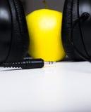 äppleheadphone fotografering för bildbyråer