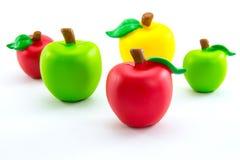 Äppleleksakerna Arkivbild