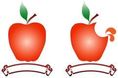 äpplen stock illustrationer