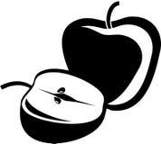 äpplen royaltyfri illustrationer