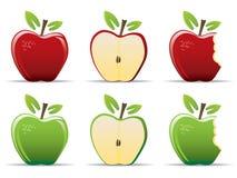 äpplen vektor illustrationer