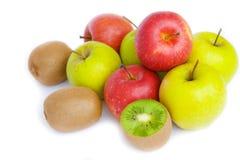 äpplen bär fruktt grön kiwired Arkivbild