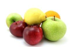 Äpplen, citron och apelsin Fotografering för Bildbyråer