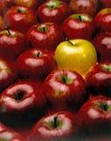 äpplen en röd yellow Arkivfoto