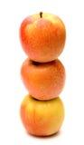 Äpplen för rosa dam Arkivfoto