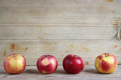 äpplen fyra fotografering för bildbyråer