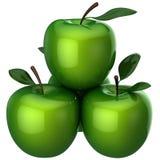 äpplen grön hög res Royaltyfria Bilder