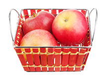 Äpplen i en korg Arkivbilder