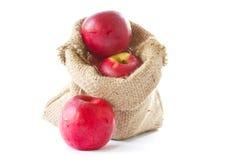 Äpplen i en påse Royaltyfria Foton