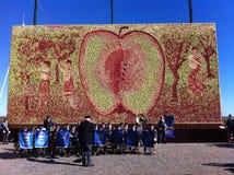 Äpplen i en ram Arkivbilder