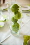 Äpplen i ett exponeringsglas Royaltyfri Foto