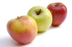 äpplen ii tre arkivfoton