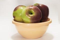 äpplen läckra tre Royaltyfri Fotografi