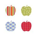 äpplen mönstrad skola Arkivbilder
