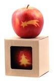 Äpplen med julsymboler Royaltyfri Fotografi