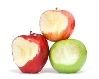 Äpplen med tuggan Royaltyfria Bilder